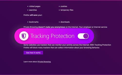 الخصوصية فى فايرفوكس كوانتم