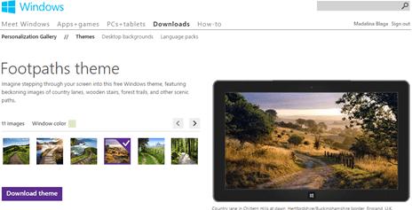 موقع ثيمات ويندوز Microsoft's Personalization Gallery