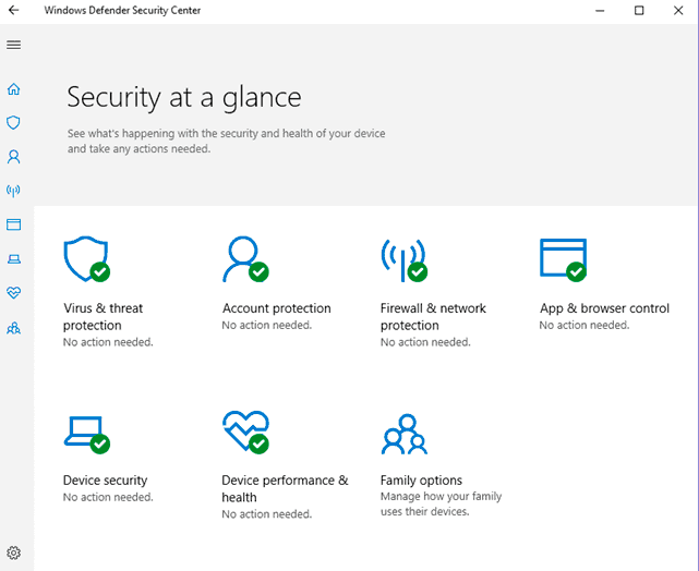 Windows Defender Security Center أكثر فائدة