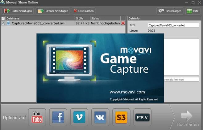 برنامج Movavi Game Capture