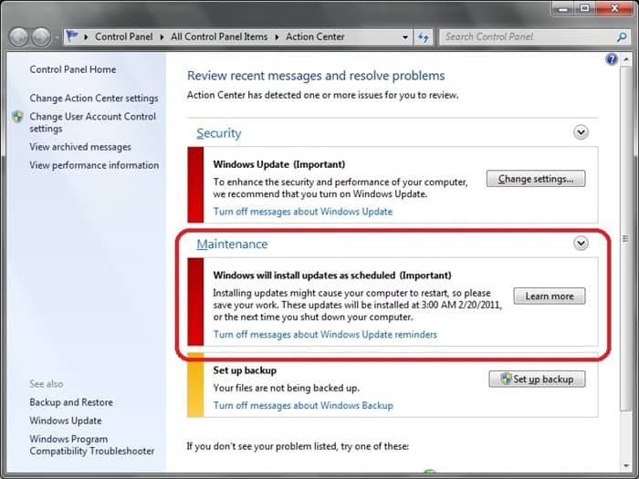 كيفية ايقاف Windows Update على ويندوز 7 و ويندوز 8