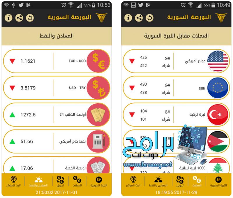 مميزات تطبيق أسعار البورصة السورية
